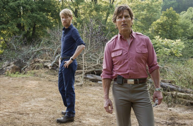 "Domhnall Gleason (left) and Tom Cruise star in the suspense/thriller ""American Made"" • Universal Pictures via AP photo"
