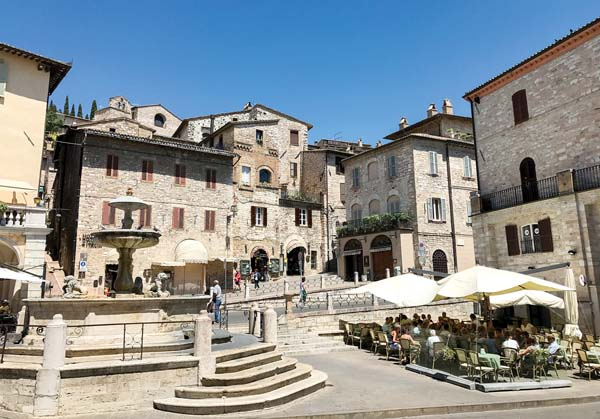 The main square in the village of Assisi, Italy, in the Umbria     region. -- Photo via AP