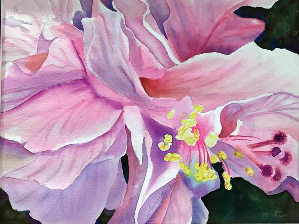 Original watercolor painting by Lahaina's own, Luana Kama. -- Photo courtesy Maui Hands Galleries