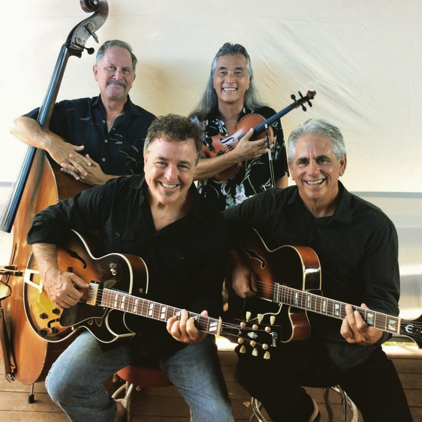 Gypsy Pacific's (clockwise from left) Marcus Johnson, Willy Wainwright, Phil Benoit and Tom Conway are together again after an eight year hiatus. • Photo courtesy the artists