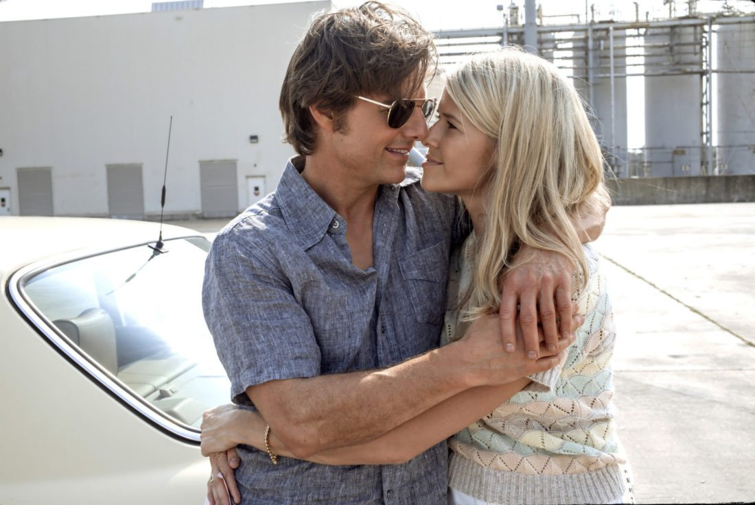 """Tom Cruise and Sarah Wright Olsen star in """"American Made"""". •Universal Pictures via AP photo"""