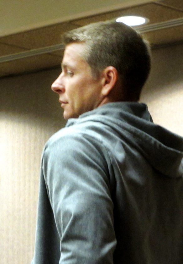 Casey Brummel, a former Baldwin High School teacher who is charged with sexually molesting a student, was arraigned in 2nd Circuit Court on Wednesday. He pleaded not guilty to four counts of third-degree sexual assault. • The Maui News / LILA FUJIMOTO photo