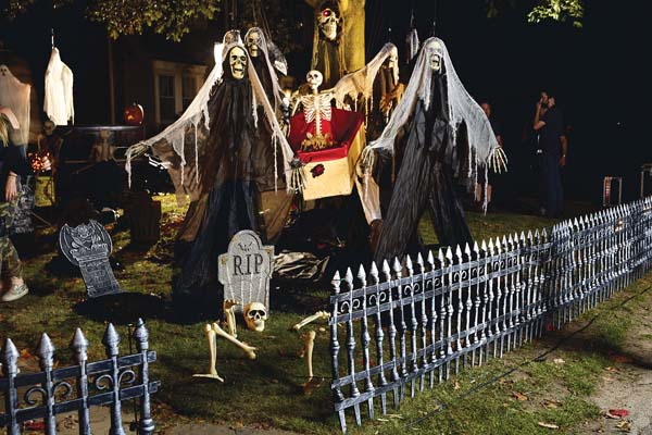Shrieks of fear or laughter — whatever you are after, there's a halloween theme sure to please every homeowner. -- AP photo