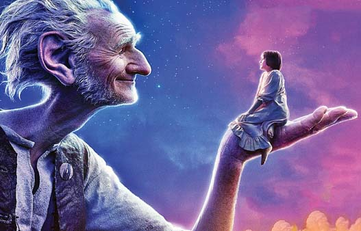 """Oscar-winning actor Mark Rylance (above left) is the BFG and Ruby Barnhill is Sophie in the Steven Spielberg-directed """"The BFG."""" -- Photo courtesy of MACC"""