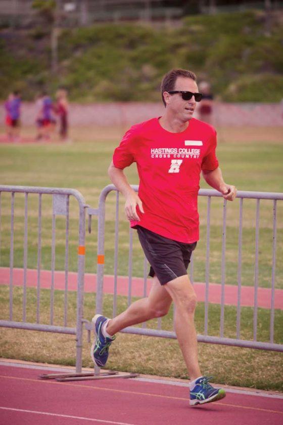 Sage Sarchet runs during a meet at War Memorial Stadium this summer. JILL SARCHET photo