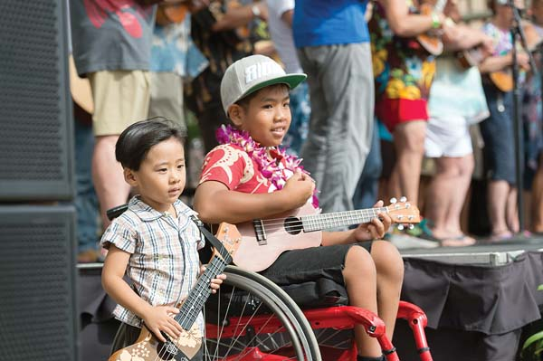 Annual Ukulele Festival at the Maui Arts & Cultural Center; Aubrey Hord photo courtesy the MACC.