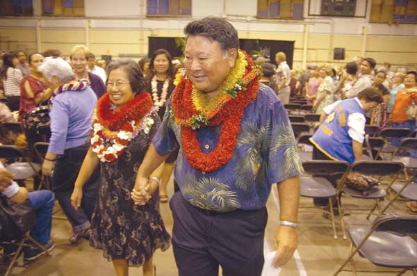 Alan Arakawa and wife Ann are shown at an event in 2010. Ann Arakawa allegedly contacted nonprofit groups to discourage their participation in a Campaign Spending Commission inquiry. The Maui News file photo