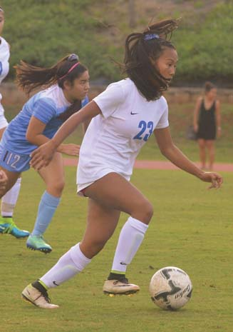 Chai Cortez, a senior at Maui High School, is one of 28 players selected for the under-18 U.S. girls soccer training camp scheduled for Saturday to Oct. 28 in Chula Vista, Calif. The Maui News / BRAD SHERMAN photo