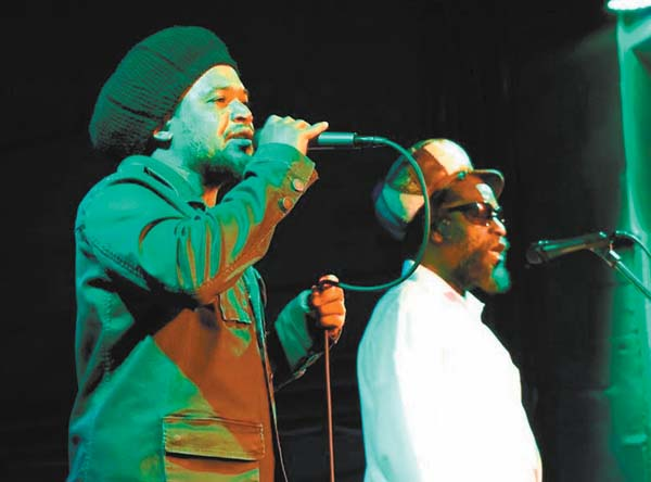 "Derrick ""Duckie"" Simpson (right), lead vocalist Andrew ""Bees"" Beckford and Black Uhuru headline the ""Skankin' on da Rock"" show at 6 p.m. Sunday in the Yokouchi Pavilion & Courtyard at Maui Arts & Cultural Center in Kahului. Gates open at 5 p.m. Tickets are $45 in advance or $55 on day of show (plus applicable fees). For more information or to purchase tickets, visit the box office, call 242-7469 or go to www.mauiarts.org. Photo courtesy the artists"