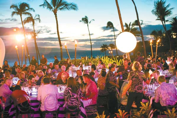 The Hyatt Regency Maui Resort & Spa's outdoor Halona Kai lawn will set the stage at 6 p.m. Sunday for Hawaiian Airlines Presents Lucky 7 with famous chefs and fine wines.