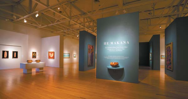 Distinguished Hawaiian art from the late 1800s to mid 1900s is represented in the He Makana exhibit now on view at the Schaefer International Gallery at the MACC. Photo courtesy Photo Luminous Maui