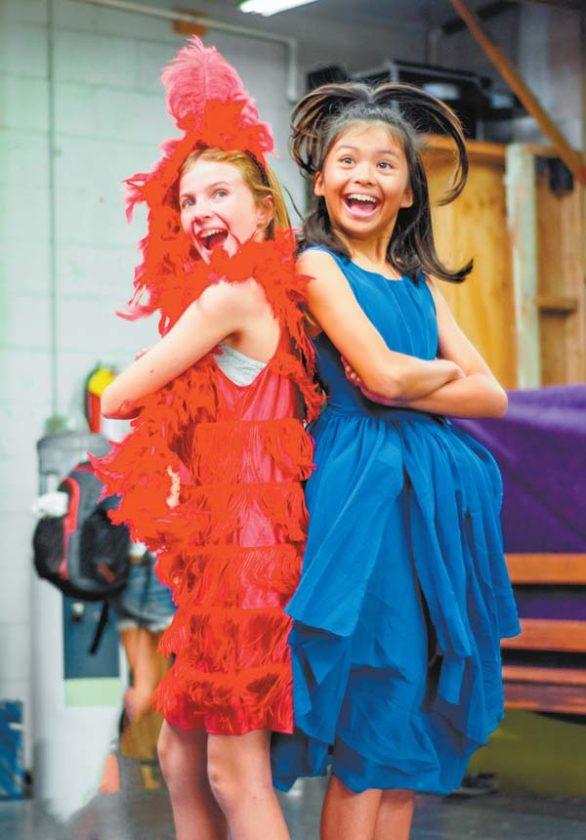 Rylynn Guthrie (left) is Lazy Mayzie Bird and Jaimie Tirona is Horton's love-struck neighbor, Gertrude McFuzz. Brett Wulfson photo