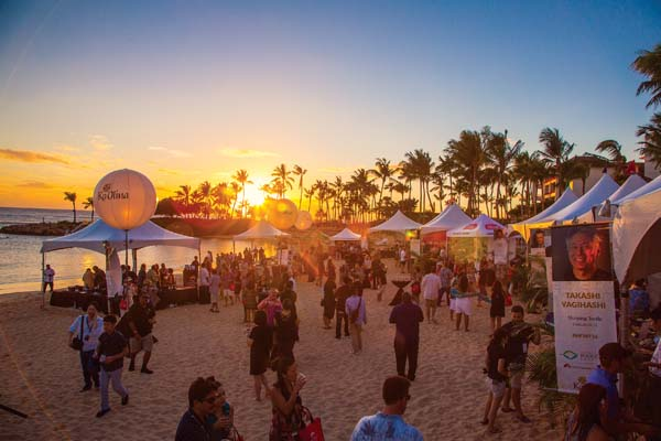 Savor a lavish,  fun beachside walkabout with artful cuisine cooked by celebrity chefs from New York to Los Angeles to Maui in the mix on Nov. 4. -- Four Seasons photo