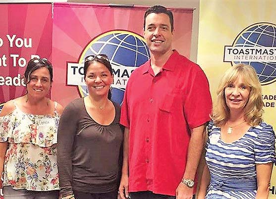 Maui Toastmasters Carrie Rogers (from left), Gina Gromley, Don McEntire and Christine Bowers are advancing to the District Fall Conference on Nov. 4 at the Pagoda Hotel on Oahu.