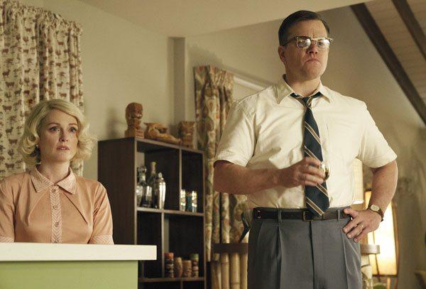 "Julianne Moore and Matt Damon star in ""Suburbicon."" Paramount Pictures via AP photo"