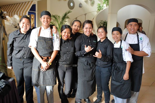 Students working at last year's Noble Chef include Joyce Rosal (from left), Brandon Ramiscal, Hechelle Acob, Hanidee Caicada, Mikiala Holley, Danielle Soriano, Janis Schreiner and Edmon Valois. Photo courtesy UH-Maui College
