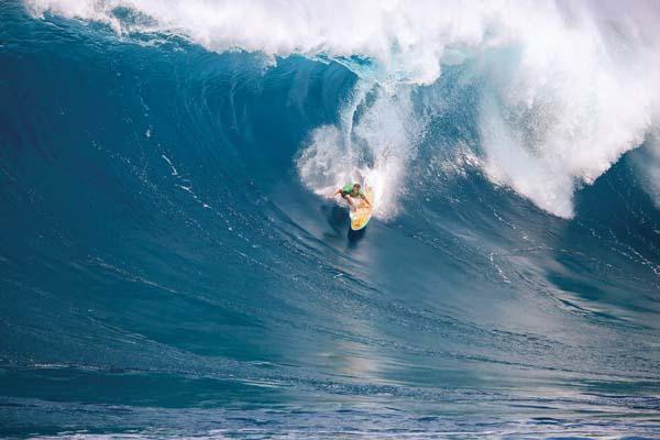Mark Healey competes. -- World Surf League / RICHARD HALLMAN photo