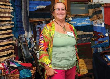 Alicia Blackburn of Island Creations hand-woven wearable art on Lanai. -- Photo courtesy Made in Maui County Festival