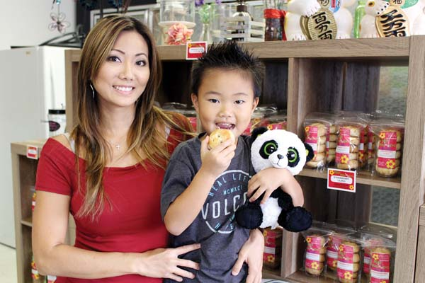 Mauian Janelle Fukuoka and son Mikey will be selling isle desserts at the Made in Maui County Festival for the first time on Friday and Saturday. --  CARLA TRACY photo
