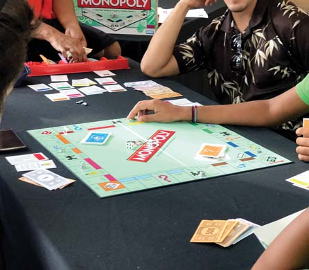 Show off your Monopoly skills and benefit the Maui Food Bank and Habitat For Humanity at the same time at the Maui Monopoly Tournament at The Shops of Wailea. -- Photo courtesy Wailea Realty Corp.