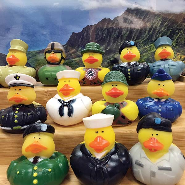The purchase of  these military-inspired ducks will benefit Maui's chapter of Wounded Warriors Project. -- Coleen d'Avignon photo