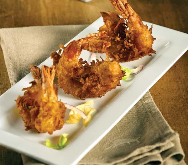 Tommy Bahama world-famous coconut shrimp