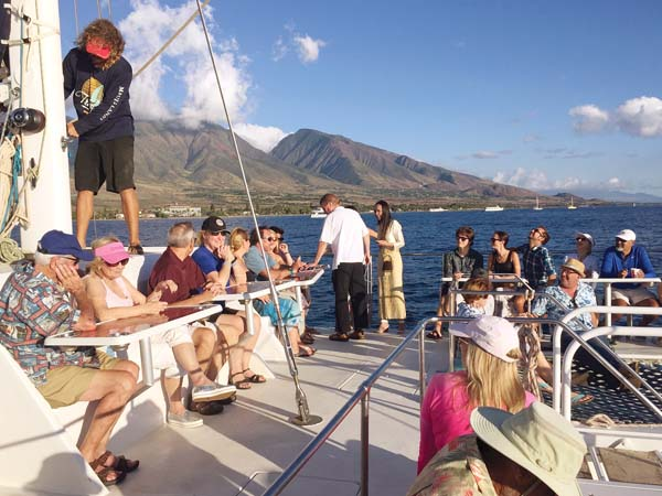Rotary Club of Lahaina Sunset cruise benefit; photo provided by club.