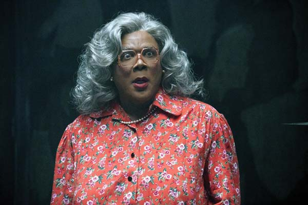 "Tyler Perry as Madea in ""Tyler Perry's Boo 2: A Madea Halloween."" Lionsgate Entertainment via AP"