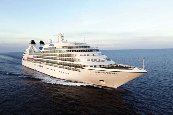 The 458-passenger Seabourn Sojourn will be making a call to Lanai on Monday. It will be the largest cruise liner to ever visit the island. The ocean liner will anchor off Manele Bay and tender passengers ashore. Seabourn Cruise Line photo