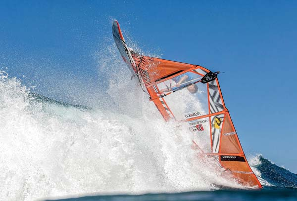Ishii Takara competes in an Aloha Classic youth heat Thursday at Hooki­pa Beach Park. International Windsurfing Tour SI CROWTHER photo