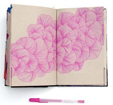 "A page entitled ""blossoms -- Photo via AP"