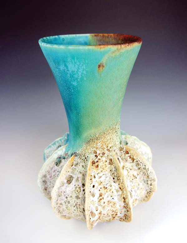 "A vase from her ""Sea Urchin"" series -- BETTY PLEVNEY photo"