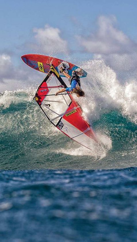 Bernd Roediger competes in an Aloha Classic men's pro division first-round heat Saturday at Hookipa Beach Park. -- International Windsurfing Tour SI CROWTHER photo
