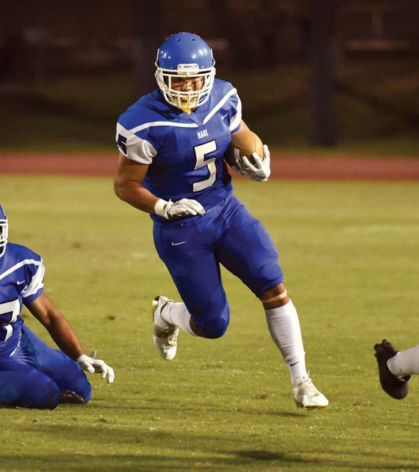 Maui High sophomore Naia Nakamoto, shown during a game in September, is one of 34 players who traveled to Saturday's state semifinal eligible to return next season.