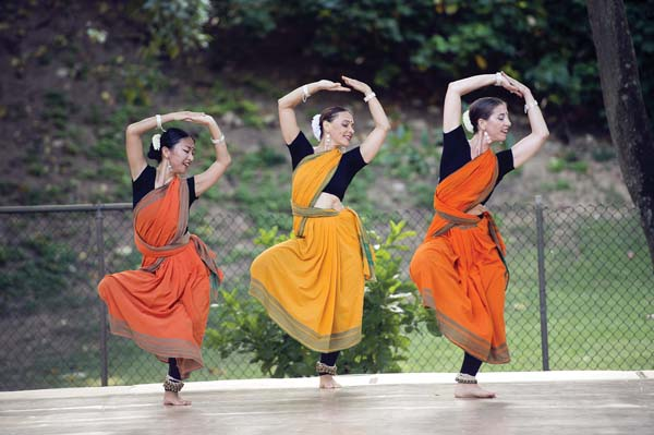 Akari Ueoka (from left), Jenny Baker-Zangpo and Malati Carano in Darshan Dance Project and Ueoka performing Japanese dance (second photo) are a few of the scheduled performers in Dance Maui 2017, which begins at 2 p.m. Saturday at Ke'opuolani Park Amphitheater in Kahului. Open grass seating tickets are $12 and children 10 and younger may attend free of charge. Low-back beach chairs or blankets are recommended. Free parking is available at War Memorial Stadium. For information or to purchase tickets online, visit www.adaptationsdancetheater.com. Trish Barker photos