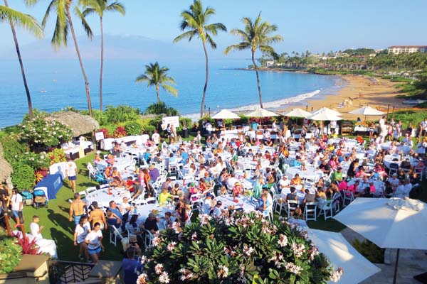 Runners and walkers will gather on the Ocean Front Lawn of  Four Seasons Resort Maui at Wailea for a continental breakfast and fun festivities. Four Seasons photo