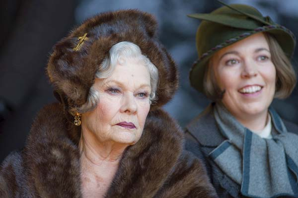 "Judi Dench (left) and Olivia Colman star in ""Murder on the Orient Express."" Twentieth Century Fox Film photo / via AP"