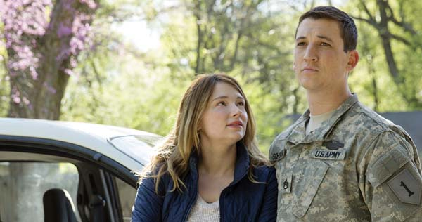 "Haley Bennett (left) and Miles Teller stars in ""Thank You for Your Service. DreamWorks Pictures photo via AP"