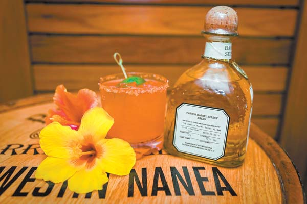 The Hibiscus Margarita is one of the featured cocktails at  the Westin Nanea in Kaanapali as part of its Patron barrel select tequila program. -- Westin Nanea photo