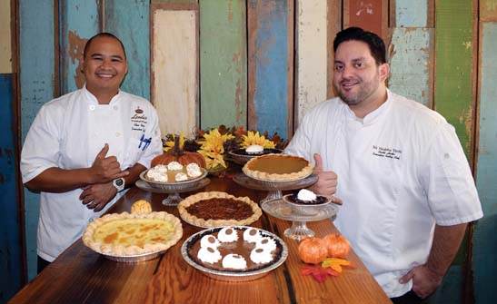 "Leoda's Kitchen & Pie Shop in tiny Olowalu will be ""dessert central"" with sweet and savory pies baked by Executive Chef Alex Yago (left) and Pastry Chef Curtis Horka. Leoda's photo"