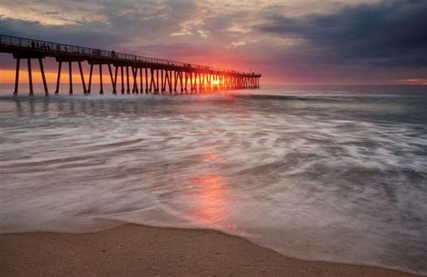 Sunset at Hermosa Pier -- Photo courtesy Los Angeles Tourism & Convention Board