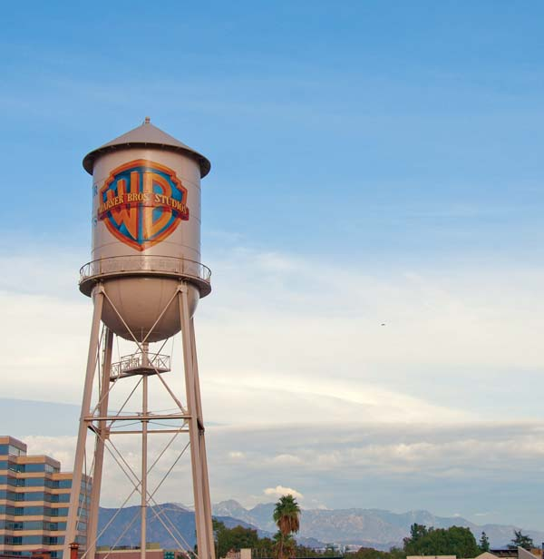 Warner Bros.' water tower -- Photo courtesy Los Angeles Tourism & Convention Board