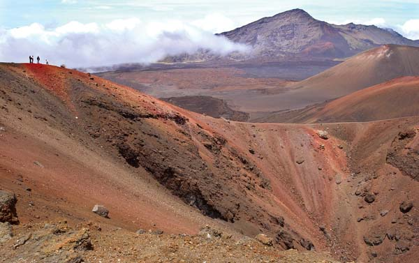 The volcanic activity that began building Haleakala occurred about 2 million years ago. Haleakala is listed as a moderate threat volcano, and scientists say it's not a matter of if but when another eruption will occur. The two most likely rift zones from where volcanic activity could take place originate in the Haleakala Crater. -- The Maui News / MATTHEW THAYER photo
