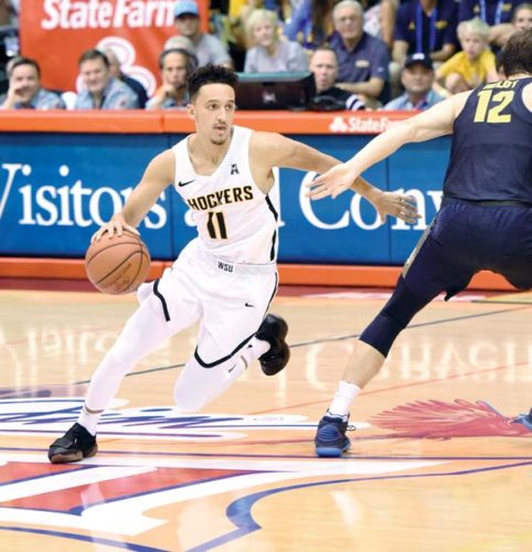 Wichita State's Landry Shamet drives during the second half of the Shockers' 80-66 win over Marquette on Tuesday at the Lahaina Civic Center in a Maui Jim Maui Invitational semifinal game. The Maui News / MATTHEW THAYER photos