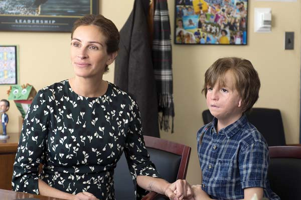 "Julia Roberts and Jacob Tremblay star in ""Wonder."" Lionsgate photo via AP"