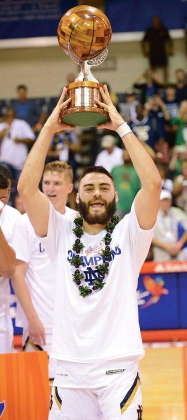 Matt Farrell had 59 points and 15 assists in three Maui Invitational games. The Maui News / MATTHEW THAYER photo