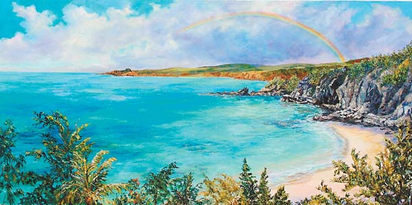"""""""Anuenue O Kapalua"""" oil by Betty Hay Freeland can be seen at Village Galleries at The Ritz-Carlton, Kapalua resort. -- Photo courtesy Village Galleries"""