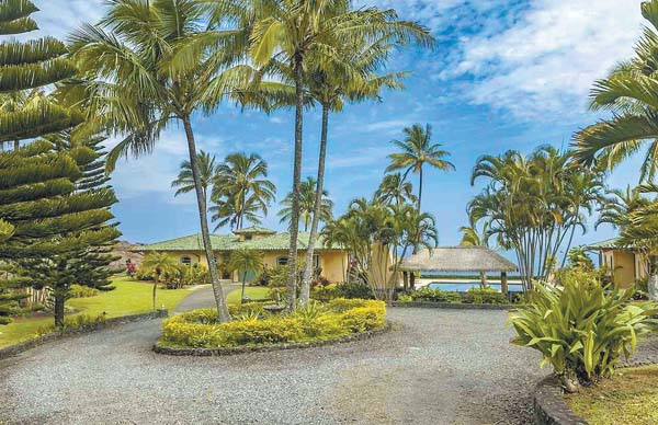 Sammy Hagar's three-bedroom, 2 1/2 bath, 2,247-square-foot home is listed by Island Sotheby's International Realty. The asking price is just under $3.3 million for the nearly 10-acre property that overlooks the Pacific Ocean. Photo courtesy of Island Sotheby's International Realty