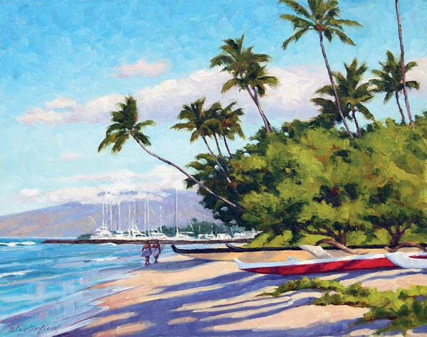 """""""Lahaina Morning"""" by David Westerfield is the winner of the Village Galleries 2018 Lahaina Poster Contest. Photo courtesy Village Galleries"""