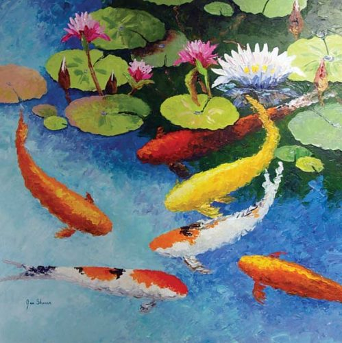 Original oil by Jan Shaner who will be the artist in residence every Friday during December at the Maui Hands gallery in Lahaina. Photo courtesy Maui Hands